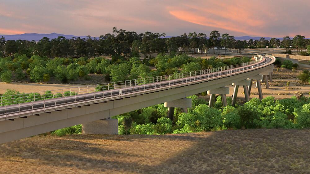 An artists rendition of the Avon River Bridge